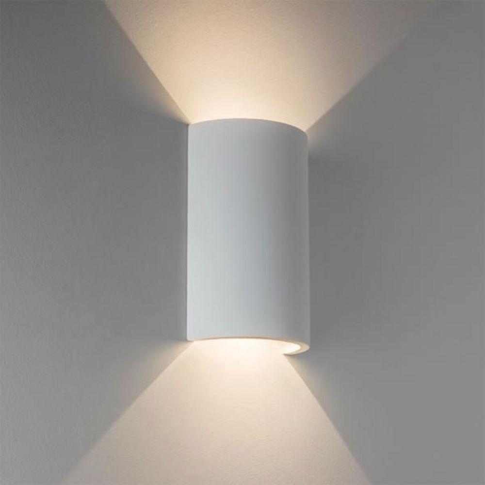 Astro Lighting 1350001 Serifos 170 7375 LED Interior Wall Light. White Plaster Finish.