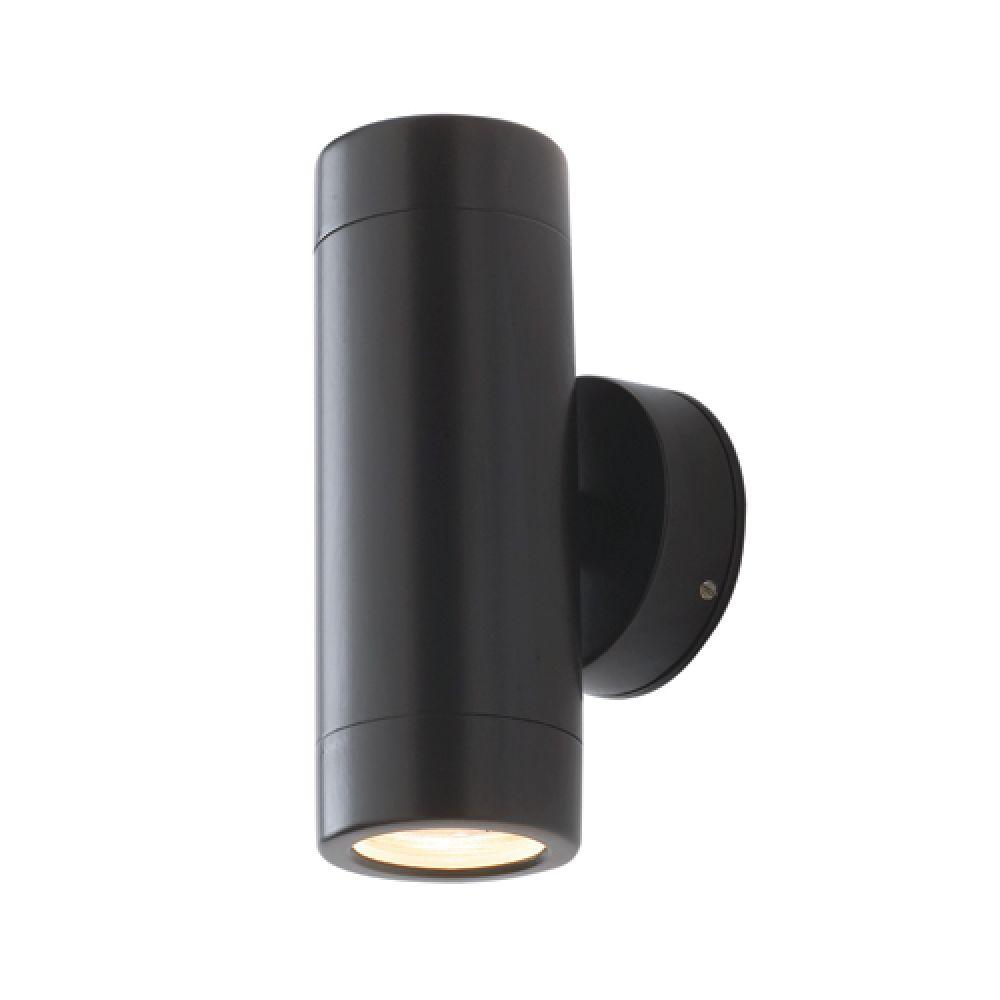 Saxby Lighting Odyssey 2 Light IP44 GU10 Wall Light - Black