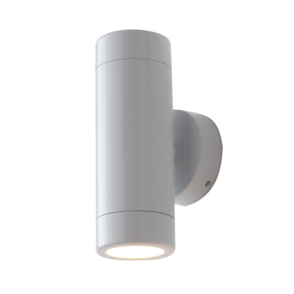 Saxby Lighting Odyssey 2 Light IP44 GU10 Wall Light - White
