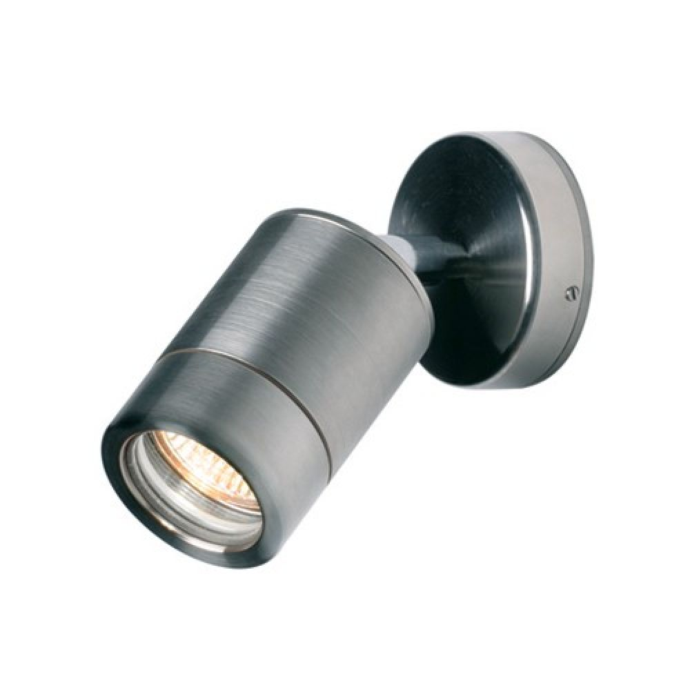 Saxby Lighting Odyssey IP65 GU10 Spot Wall Light - Stainless Steel