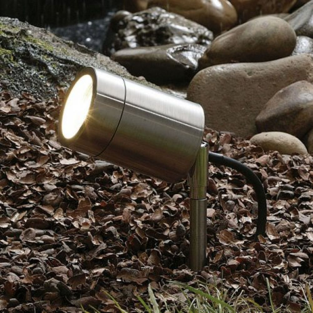 Saxby Lighting Odyssey IP65 GU10 Spike Light - Stainless Steel