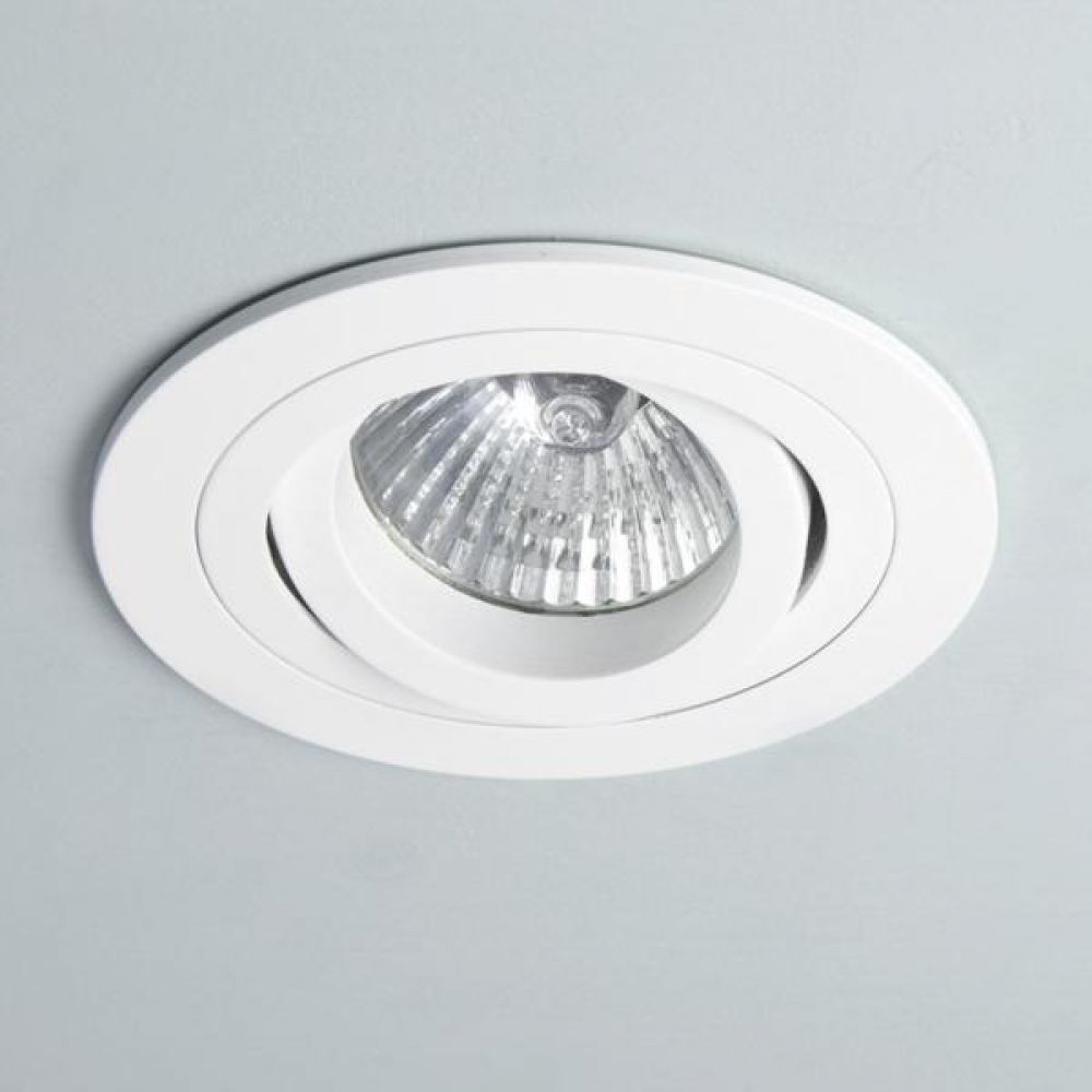 Astro Lighting 1240028 Taro 230v Round Adjustable Fire Resistant 5676 Interior Downlight. Matt White
