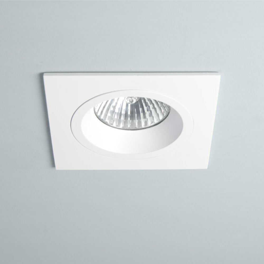 Astro Lighting 1240014 Taro Square Fixed 230v 5640 Interior Downlight. Matt White Finish
