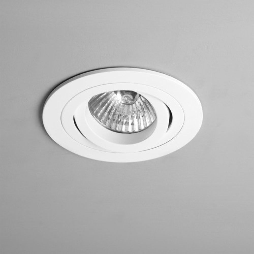 Astro Lighting 1240015 Taro Round Adjustable 230v 5641 Interior Downlight. Matt White Finish