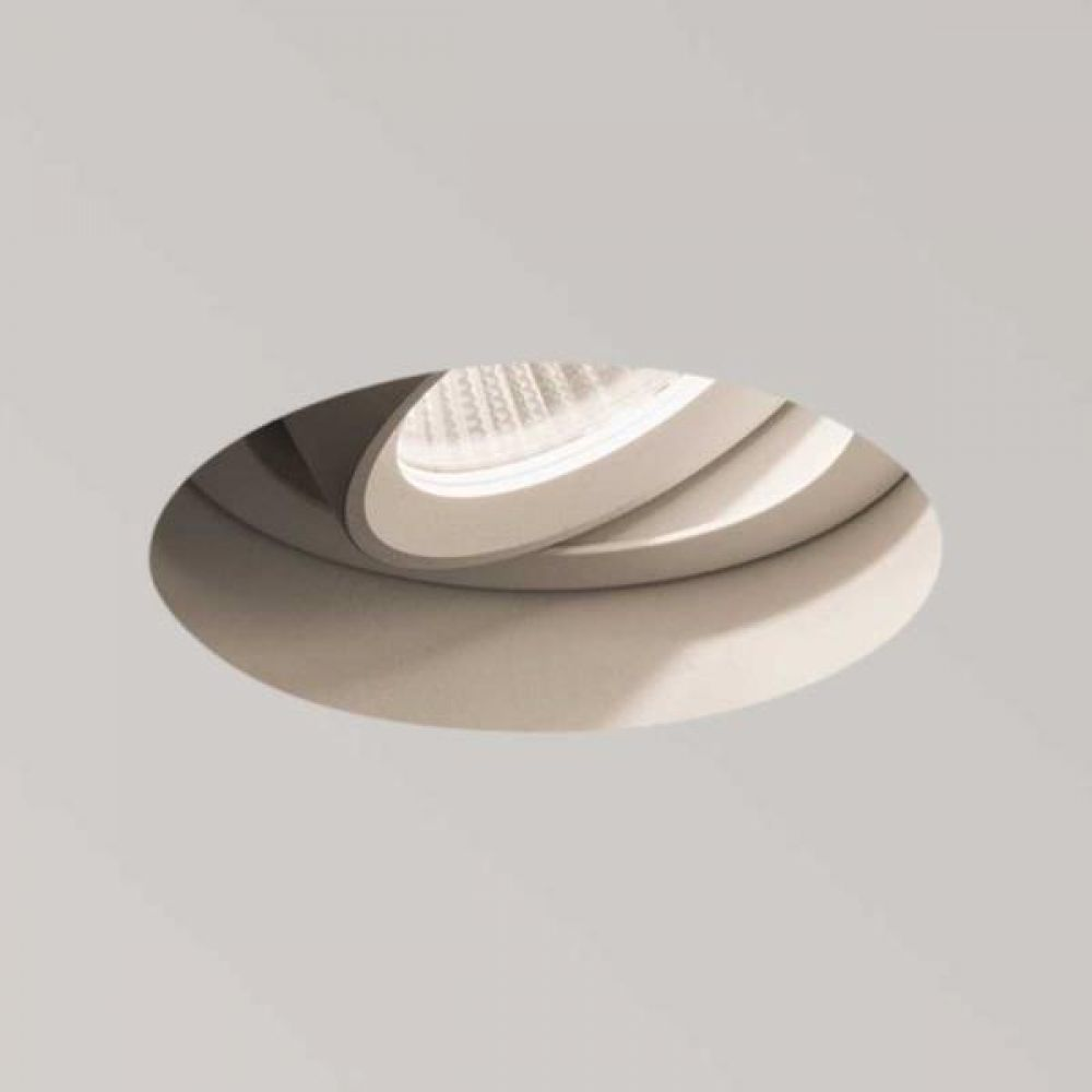 Astro Lighting 1248010 Trimless LED Round Adjustable 5700 Recessed Downlight. White Finish
