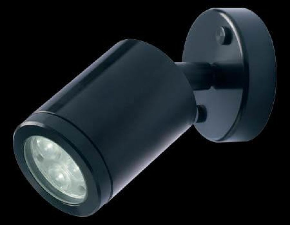 Collingwood 3W LED Wall Light Black with Warm White LED and 38 Degree Beam Angle