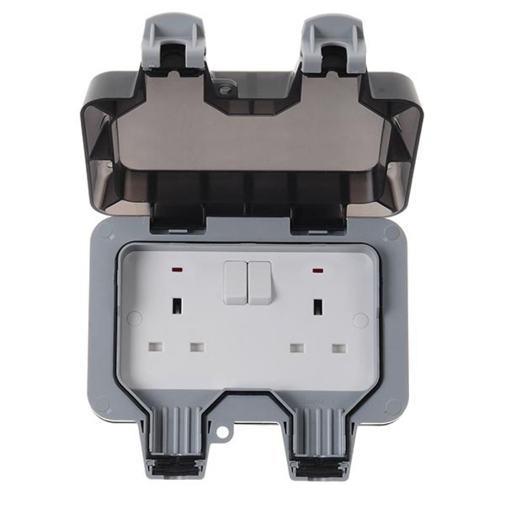 BG Nexus Storm IP66 2 Gang 13 Amp Switched Socket