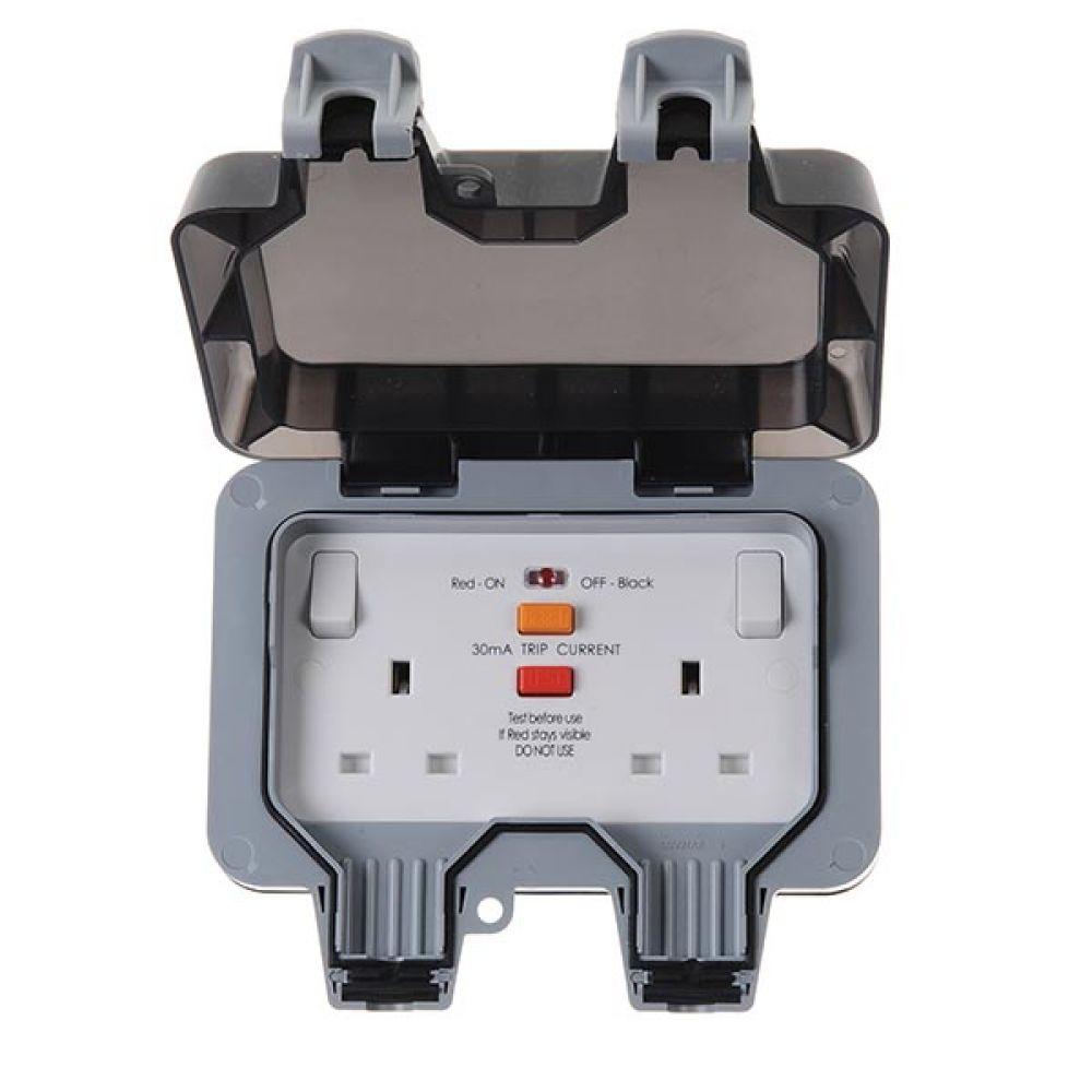 BG Nexus Storm IP66 2 Gang 13 Amp Switched Socket with RCD Protection