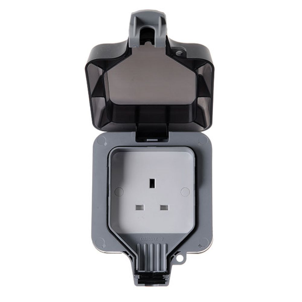 BG Nexus Storm IP66 1 Gang 13 Amp Unswitched Socket