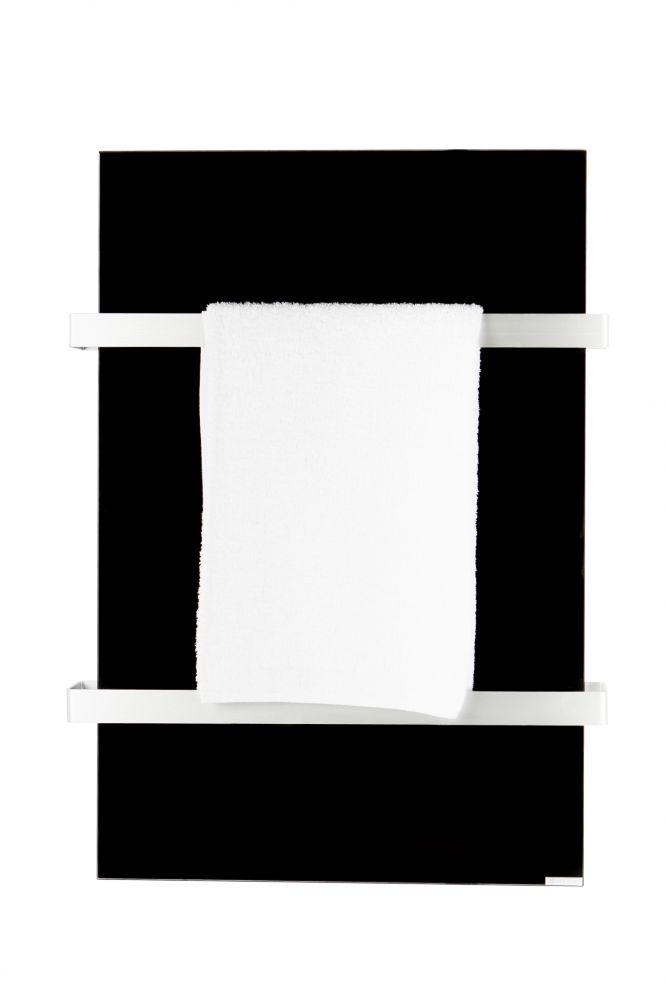 Hershel 500W Select XL Black Glass Towel Rail