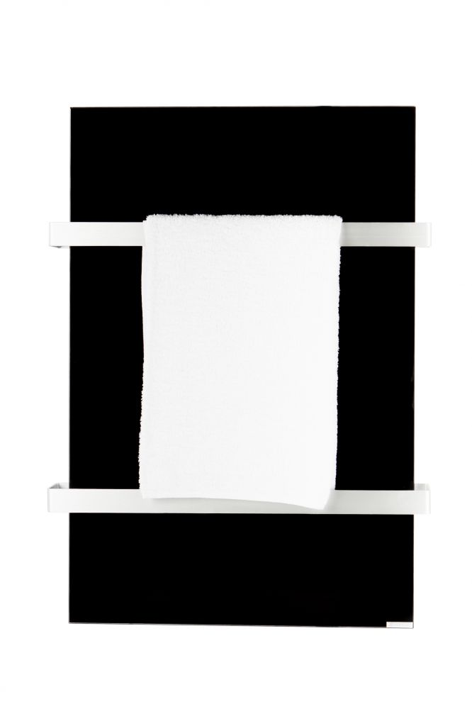 Hershel 700W Select XL Black Glass Towel Rail
