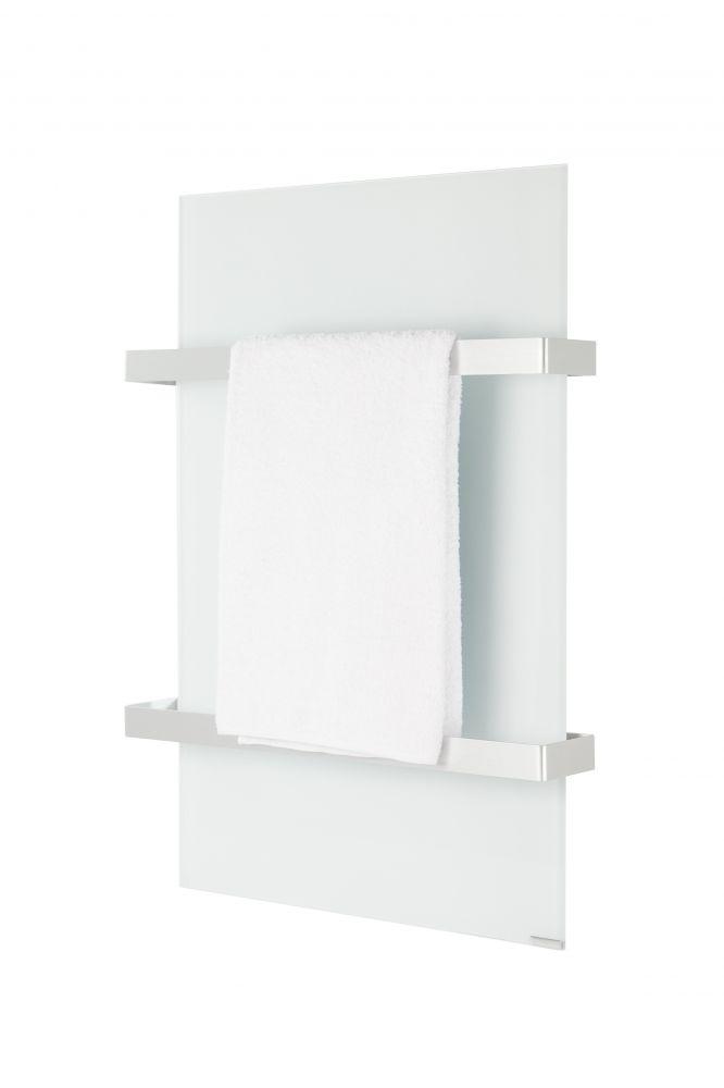 Hershel 700W Select XL White Glass Towel Rail
