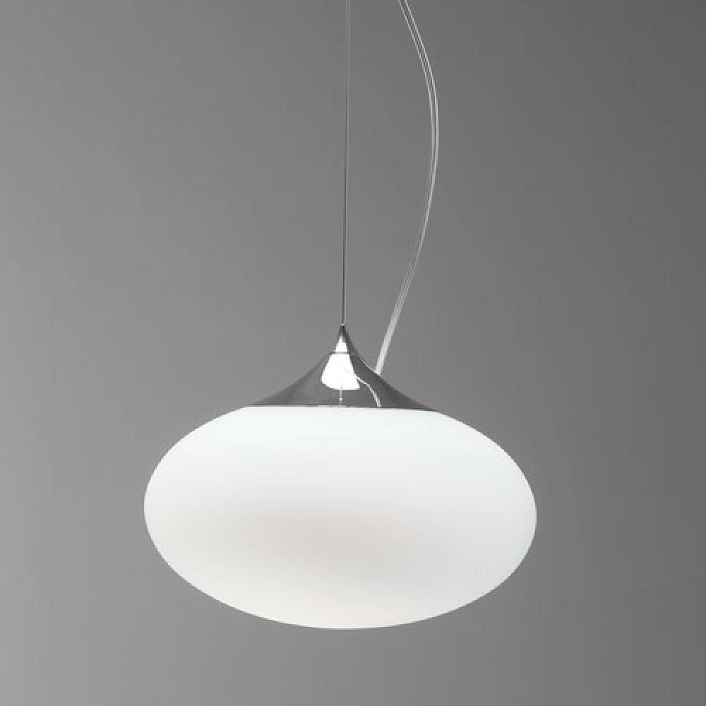 Astro Lighting 1176002 Zeppo Pendant 300 0965 Interior Pendant. Polished Chrome & White Opal Glass F