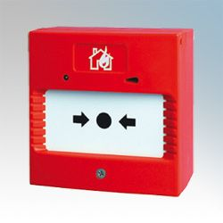 Channel Sabre Dual Wire Surface Mounted Red Break Glass Call Point