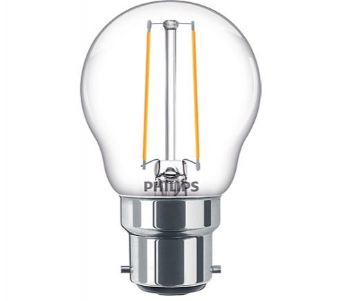 Philips 5W LED Filament Golfball Clear BC 827 Dimmable Warm White