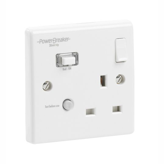 PowerBreaker RCD Single Socket Passive - Switched 30mA