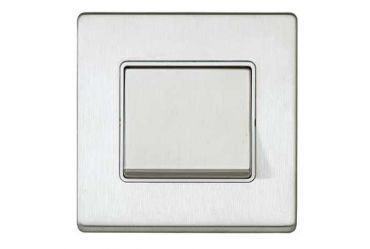 Aspect 1G 20A SP 2 Way Wide Switch Brushed Stainless Steel