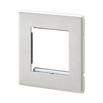 Aspect 2 Module Euro Data Plate Brushed Stainless Steel