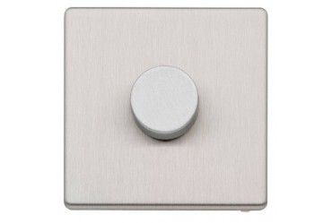 Aspect 1G 2W Dimmer 500W/400VA Brushed Stainless Steel