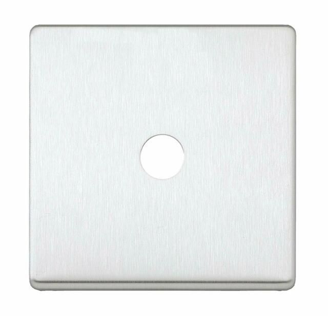 Aspect 1 Module Toggle Switch Plate + Frame Brushed Stainless Steel