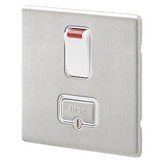 Aspect 13A DP SW Spur Neon Brushed Stainless Steel White Insert
