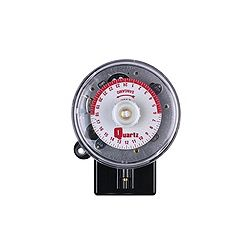Quartz 24 hour, 20Amp, 50/60Hz, 230V, 3 Pin (Standard Wiring), 2 ON / 2 OFF, Day Omit On