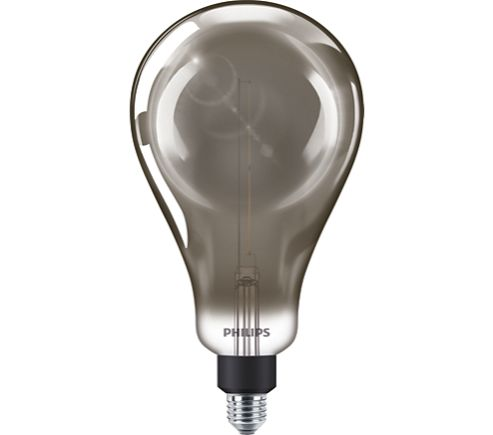 Philips 25W LED Giant Smoky Filament Lamp A160 ES Dimmable Cool White