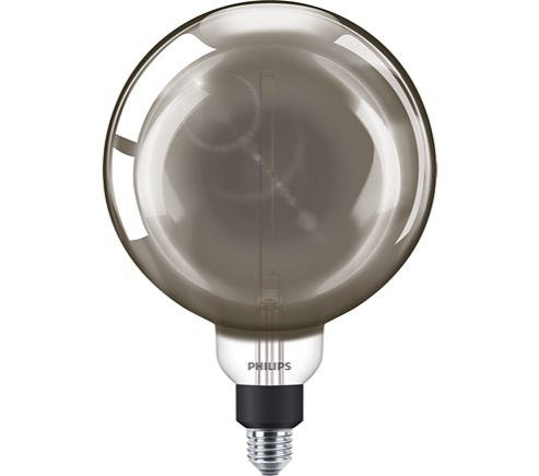 Philips 25W LED Giant Smoky Filament Lamp G200 ES Dimmable Cool White