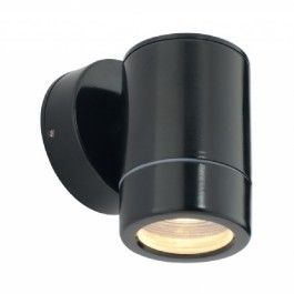 Saxby Lighting Odyssey 1 Light IP44 GU10 Wall Light - Black