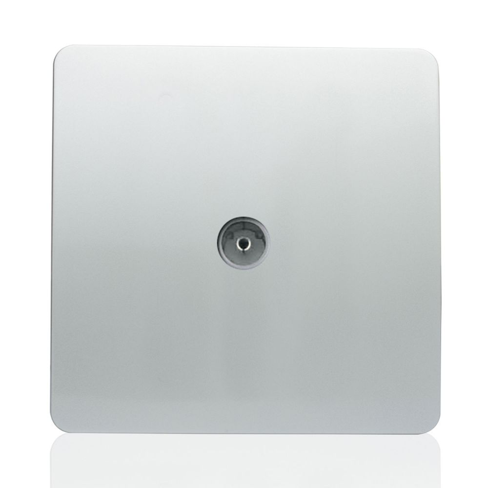 Trendiswitch screwless 1 gang TV coaxial socket Gloss Silver