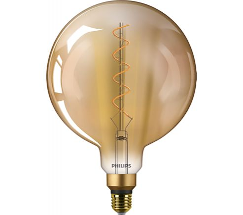 Philips 25W LED Vintage Giant Filament Gold G200 Lamp ES Non-Dimmable Very Warm White